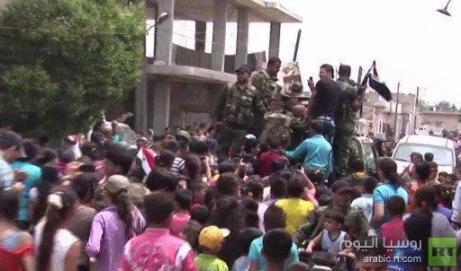 "Exército Árabe da Síria em ""Al-Ghassaniya"""