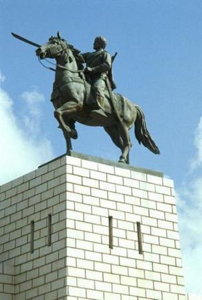 Estátua de Sayyid Mohammed Abdullah Hassan em Mogadiscio