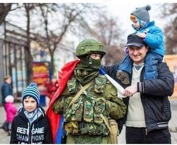 Soldado russo na Criméia.