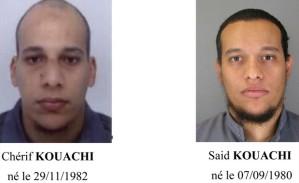 Chérif Kouachi e Said Kouachi, autores do ataque à revista 'Charlie Hebdo' (Foto: Reuters)