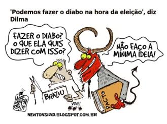 Dilma-fala-do-diabo-para-2014-por-Newton-Silva